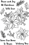 """Holiday Bouquet - Avery Elle Clear Stamp Set 4""""X6"""""""