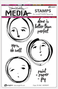 """Oops, Oh Well - Dina Wakley Media Cling Stamps 6""""X9"""""""