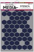 "Honeycomb - Dina Wakley Media Stencils 9""X6"""
