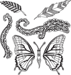 Flight Of Fancy - Dyan Reaveley's Dylusions Cling Stamp