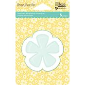 Flower - Jillibean Soup PVC Card Shakers 6/Pkg