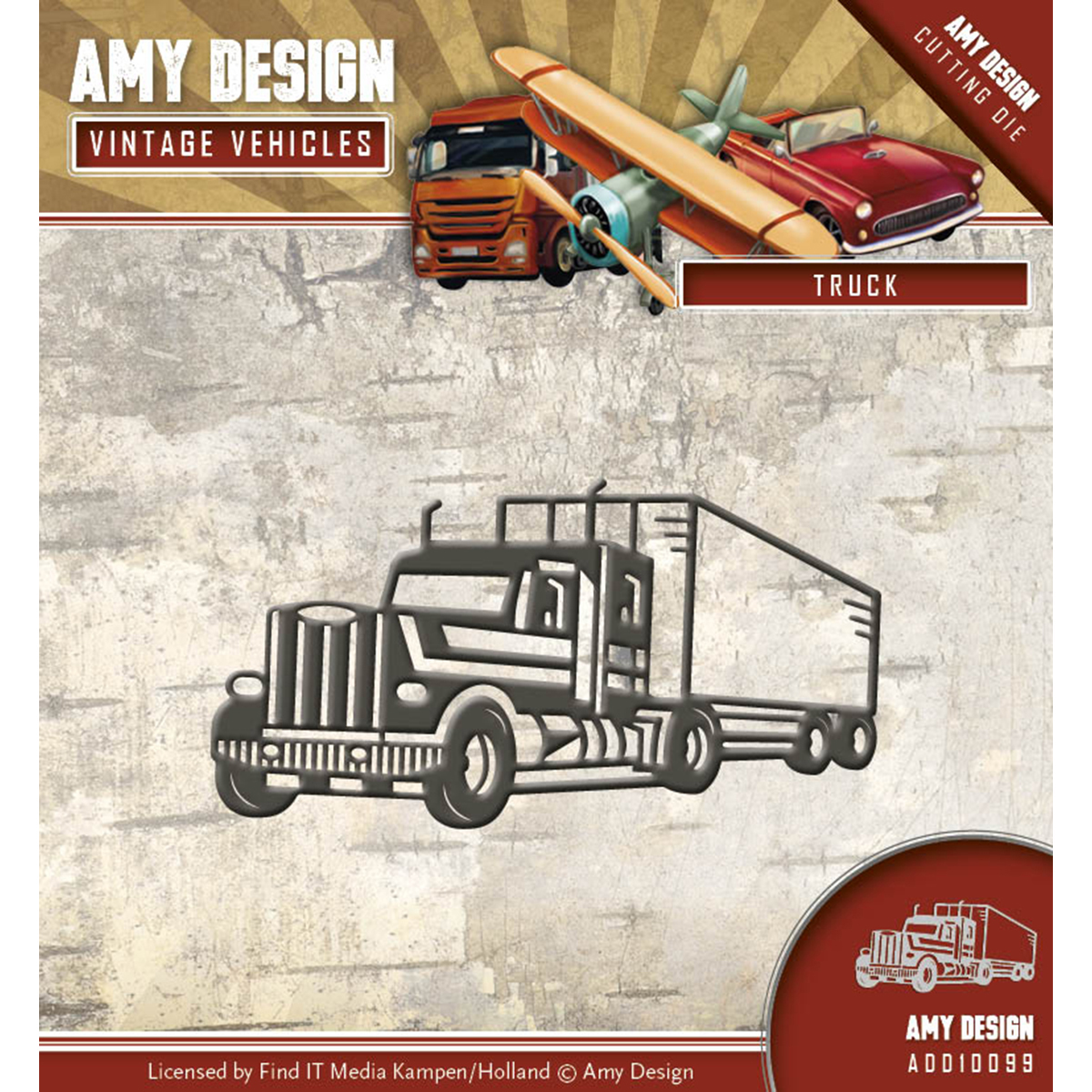 Truck - Find It Trading Amy Design Vintage Vehicles Die