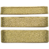Gold; 10mm, 20mm & 25mm - Craft Consortium Always & Forever Metallic Ribbon 3m 3/Pkg Perfect for adding that finishing touch to any wedding stationary, invite or decoration! This package contains three meters of 10mm wide ribbon, three meters of 15mm wide ribbon and three meters of 20mm wide ribbon. Imported.