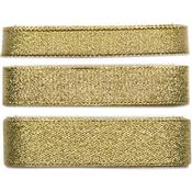 Gold; 10mm, 20mm & 25mm - Craft Consortium Always & Forever Metallic Ribbon 3m 3/Pkg