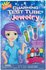 Scientific Explorers Charming Test Tube Jewelry Kit Keep a close eye on your experiments by wearing them! With four tall test tubes that come with caps and a stand, you can set up your lab anywhere and conduct four awesome experiments. Make ordinary powders fizz and foam, concoct a color changing mixture, create a rolling wave and a glowing test tube and even mix your own to see what you can create! This 8x12x2 inch package contains 0.07 of Glow Powder, six color tablets, 1oz of baking soda, 0.1oz of red cabbage juice power, 0.5oz of cross-linked polyacrylate copolymer, one pipette, four test tubes, four caps, four clasps, four 24 inch polyester satin cords, one test tube stand and one instruction guide. WARNING: This set contains chemicals that may be harmful if misused. Recommended for ages 8 and up. Imported.