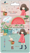 Melon Shower - Santoro Kori Kumi II A6 Character Stamps