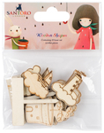 Melon, 4 Designs/2 Each - Santoro Kori Kumi II Laser-Cut Wooden Shapes 8/Pkg