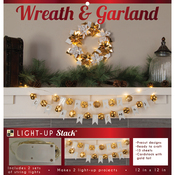 Poinsettia Wreath, Ball & Flag Garland - DCWV DIY Light Up Project Stack