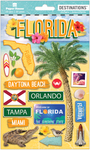 Travel Florida 2-D Stickers - Paper House