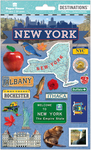 Travel New York State 2-D Stickers - Paper House