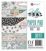 Zella Teal 6 x 6 Paper Pad - Prima