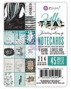 Zella Teal 3 x 4 Journaling Cards - Prima