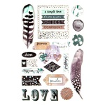Zella Teal Puffy Stickers - Prima