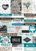 Zella Teal Word Stickers - Prima