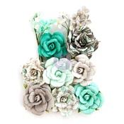 Teal Love Flowers - Zella Teal - Prima