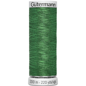 Christmas Green - Gutermann Dekor Metallic Thread 200m