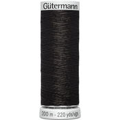 Black - Gutermann Dekor Metallic Thread 200m
