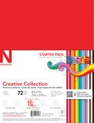 "18 Bold & Vivid Colors - Creative Collection Cardstock Starter Pack 8.5""X11"" 72/Pkg"