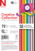 "18 Bold & Vivid Colors - Creative Collection Cardstock Starter Pack 4.5""X6.5"" 72/Pkg"
