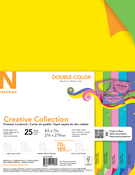 "5 Double Colors - Creative Collection Cardstock Pack 8.5""X11"" 25/Pkg"