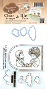 """Can't Say Enough - DreamerlandCrafts Clear Stamp & Die Set 4""""X4"""""""