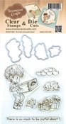 """So Much To Be Joyful About - DreamerlandCrafts Clear Stamp & Die Set 4""""X4"""""""