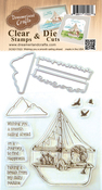 """Wishing You A Smooth Sailing Ahead - DreamerlandCrafts Clear Stamp & Die Set 4""""X4"""""""