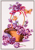 Basket With Flowers - Collection D'art Stamped Cross Stitch Kit 28x37cm