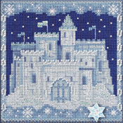 """5.25""""X5.25"""" 14 Count - Ice Castle Buttons & Beads Counted Cross Stitch Kit"""