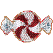 "2""X3.5"" 14 Count - Peppermint Candy Counted Cross Stitch Kit"