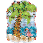 "2.5""X3.25"" 14 Count - Christmas Palm Counted Cross Stitch Kit"