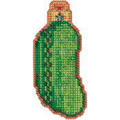"1.5""X3.5"" 14 Count - Christmas Pickle Counted Cross Stitch Kit"