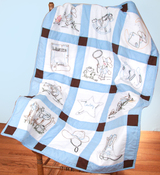 "Baby Cowboys - Stamped Baby Quilt Blocks 9""X9"" 12/Pkg"