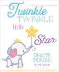 """9""""X12"""" 14 Count - Twinkle Twinkle Little Star Counted Cross Stitch Kit"""
