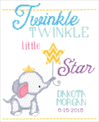 "9""X12"" 14 Count - Twinkle Twinkle Little Star Counted Cross Stitch Kit"