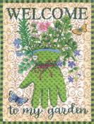 "11""X15"" 14 Count - Gardener's Glove Counted Cross Stitch Kit"