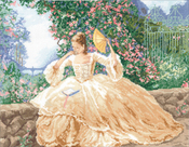 """16""""X12"""" 14 Count - Ringlets & Roses Counted Cross Stitch Kit"""