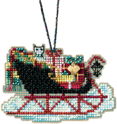 "2.25""X2.75"" 14 Count - Vintage Sleigh Counted Cross Stitch Kit"