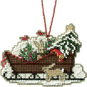 "3.5""X2.5"" 14 Count - Woodland Sleigh Counted Cross Stitch Kit"