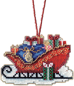 "3.5""X2.5"" 14 Count - Traditional Sleigh Counted Cross Stitch Kit"