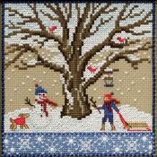 "5.25""X5.25"" 14 Count - Winter Oak Counted Cross Stitch Kit"