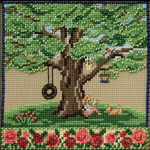 "5.25""X5.25"" 14 Count - Summer Oak Counted Cross Stitch Kit"