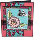 Hola Flower - Sizzix Framelits Die & Stamp Set By Crafty Chica 4/Pkg