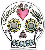 Sugar Skull - Sizzix Framelits Die & Stamp Set By Crafty Chica 4/Pkg