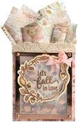 Let's Fall In Love - Sizzix Framelits Die & Stamp Set By Lindsey Serata 7/Pkg