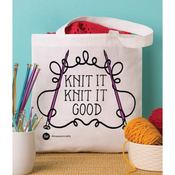 "Knit It - Boye Tote Bag 13.5""X13.75"""