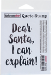 """Dear Santa - Darkroom Door Quote Cling Stamp 3""""x2"""""""