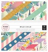 Wild Child Girl 6 x 6 Paper Pad - Pink Paislee