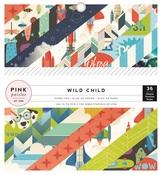 Wild Child Boy 6 x 6 Paper Pad - Pink Paislee