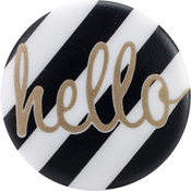 "Hello - Sweet Shimmer Buttons 1"" 2/Pkg"
